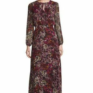 Purple Floral Maxi Dress Glamorous Small